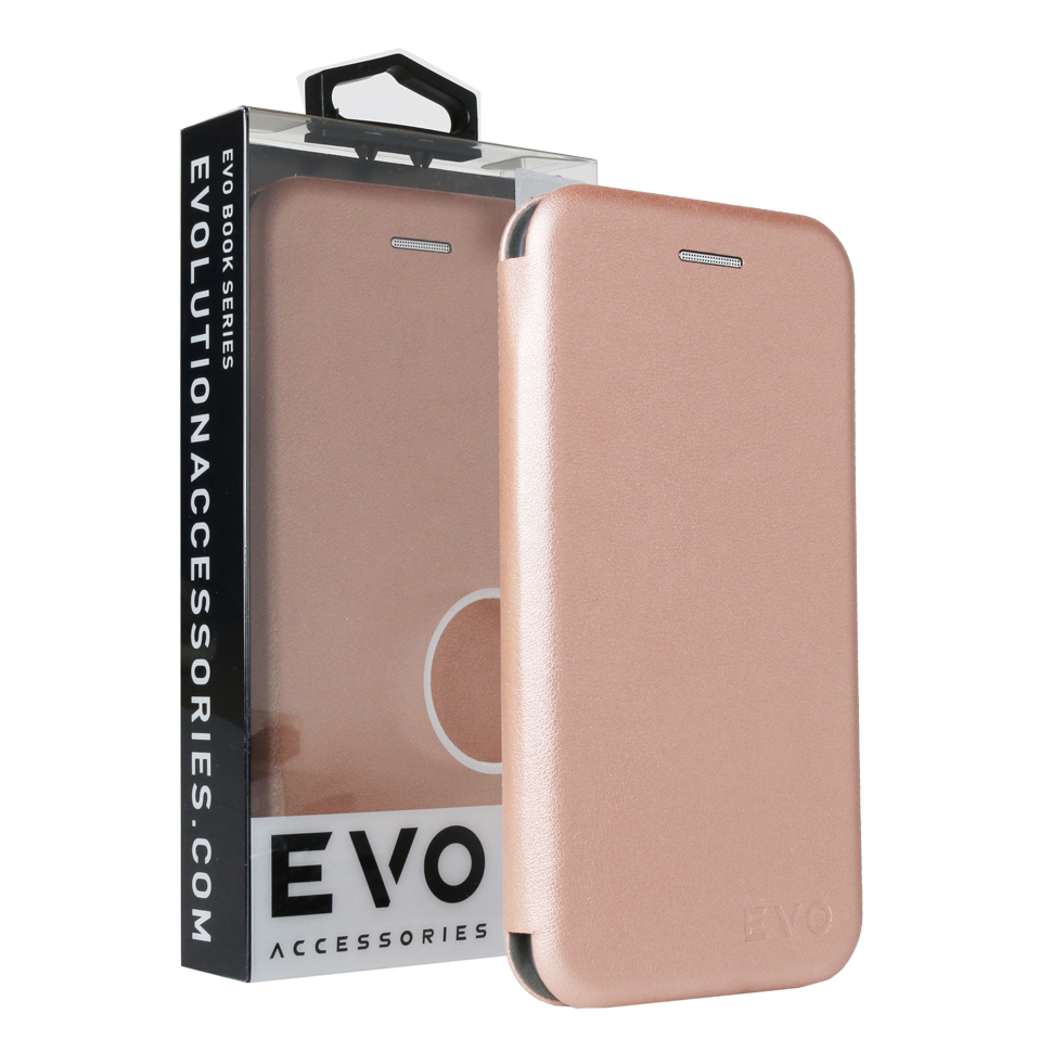 buy online 4a80a d4dc2 EVO Super Slim Book Case for iPhone 7 / 8 - Rose Gold